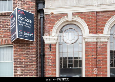 Bank premises for sale in Pocklington, East Yorkshire - Stock Photo