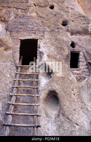 Cliff-dwellings, Bandelier National Monument, NM. Photograph - Stock Photo