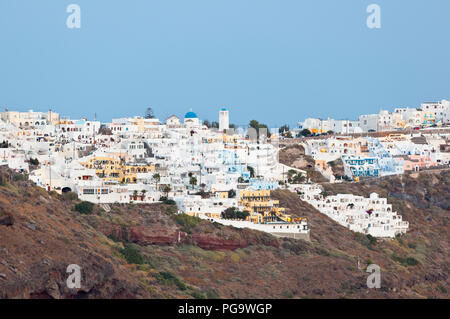 View to the village of Imerovigli in Santorini, Greece. - Stock Photo