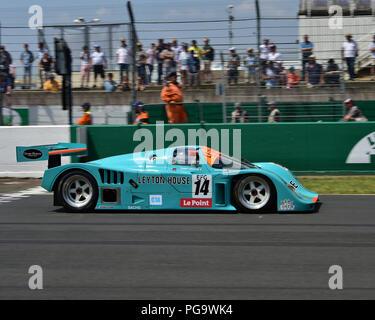 Tommy Dreelan, Aaron Scott, Porsche 962, Group C Racing, Le Mans Classic 2018, July 2018, Le Mans, France, circuit racing, Classic, classic cars, Clas - Stock Photo