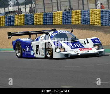 Max von Braunmuhl, Porsche 962, Group C Racing, Le Mans Classic 2018, July 2018, Le Mans, France, circuit racing, Classic, classic cars, Classic Racin - Stock Photo