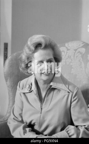 Margaret Hilda Thatcher, Baroness Thatcher, LG, OM, DStJ, PC, FRS, HonFRSC (née Roberts; 13 October 1925 – 8 April 2013) was a British stateswoman who served as Prime Minister of the United Kingdom from 1979 to 1990 and Leader of the Conservative Party from 1975 to 1990. She was the longest-serving British prime minister of the 20th century and the first woman to hold that office. A Soviet journalist dubbed her the Iron Lady, a nickname that became associated with her uncompromising politics and leadership style. As Prime Minister, she implemented policies known as Thatcherism. - Stock Photo