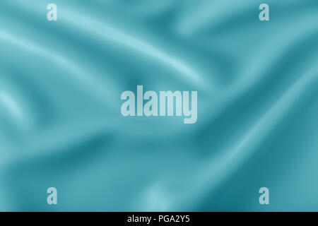 Smooth elegant shiny turquoise silk or satin luxury cloth texture can use as abstract holidays background. Luxurious Christmas background or New Year  - Stock Photo