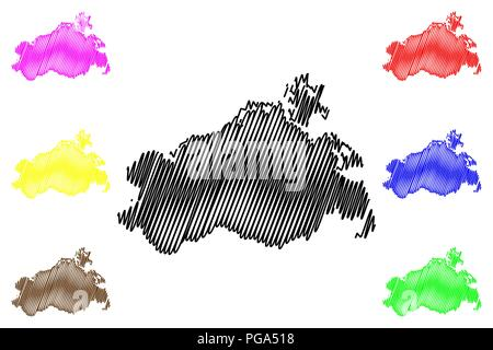 Mecklenburg-Vorpommern (Federal Republic of Germany, State of Germany, MV) map vector illustration, scribble sketch Mecklenburg-West Pomerania map - Stock Photo
