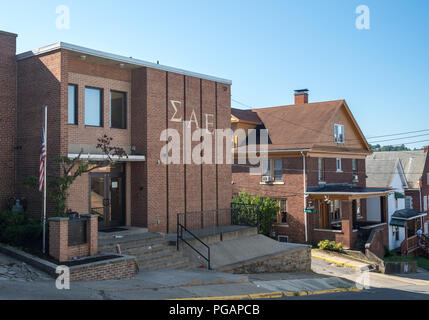 Sigma Alpha Epsilon Greek Life building at WVU in Morgantown, WV - Stock Photo