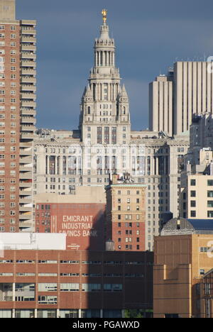 Manhattan skyline, NYC, USA - Stock Photo