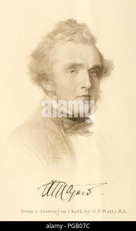 Austen Henry Layard Portrait 1848. - Stock Photo