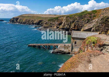Old Lifeboat Station at Lizard Point, Cornwall - Stock Photo