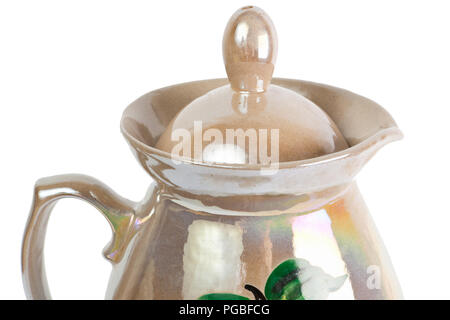 Close up top of jug isolated on the white background - Stock Photo