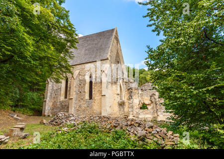 Ruins of 14th Century monastery church in Martonyi, Hungary - Stock Photo
