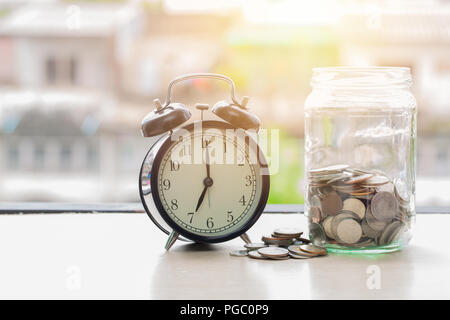 time to saving money for future everyday concept - Stock Photo
