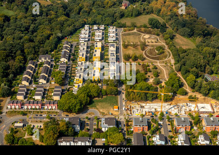 Dilldorfer height, new construction area in the bend of the Baldeneysee, Allbau Essen, Dilldorf, Essen, Ruhr Area, Nordrhein-Westfalen, Germany, DEU,  - Stock Photo