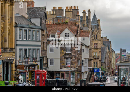 EDINBURGH SCOTLAND JOHN KNOXS HOUSE ON HIGH STREET - Stock Photo