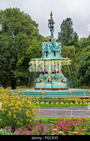 The restored Ross Fountain in West Princes Street Gardens Edinburgh ...