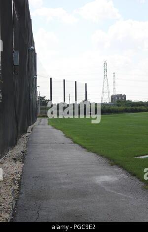 Outdoor golf driving range in Skokie, Illinois, USA. - Stock Photo