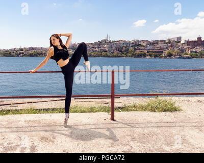 Ballet Dancer in Istanbul - Stock Photo