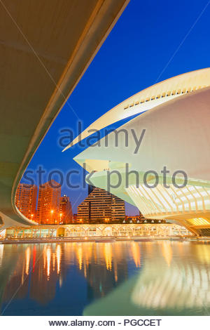 City of Arts and Sciences, Valencia, Spain, Europe - Stock Photo