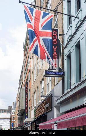 Quo Vadis, Dean Street, Soho, London, W1D, UK - Stock Photo