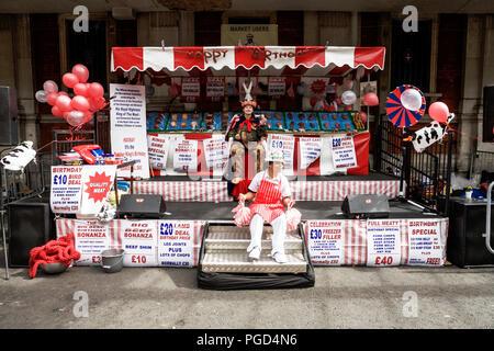 London UK, 25th August 2018. Smithfield 150: London's biggest birthday party. Smithfield 150 celebrates the 150th anniversary of Smithfield Markets with a 2 day celebration. Smithfield market London. - Stock Photo