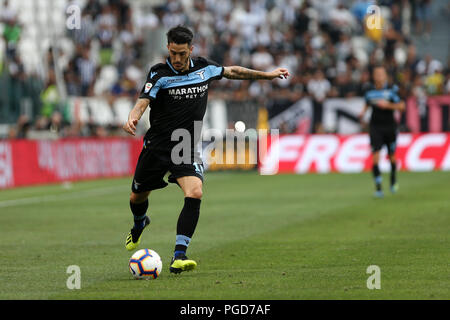Torino, Italy. 25th August, 2018. Luis Alberto  of SS Lazio in action during the Serie A football match between Juventus Fc and SS Lazio.  Credit: Marco Canoniero / Alamy Live News  . Credit: Marco Canoniero/Alamy Live News - Stock Photo