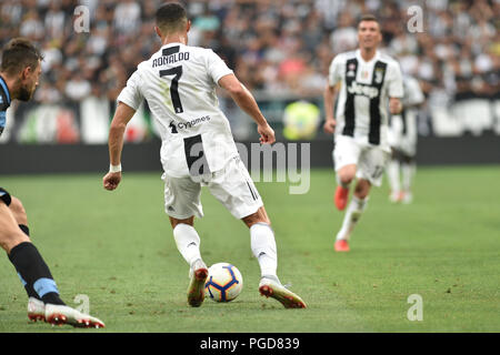 Turin, Italy. 25th Aug, 2018. Cristiano Ronaldo (Juventus FC),during the Serie A football match between Juventus FC and SS Lazio at Allianz Stadium on 25 August, 2018 in Turin, Italy. Credit: Antonio Polia/Alamy Live News