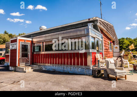 Stateline Diner _ Foster, Rhode Island, USA - Stock Photo
