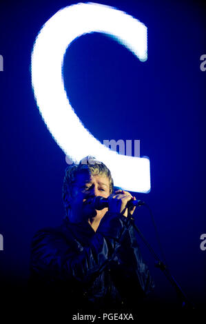 British new-wave poet and artist Anne Clark at the first Sinner's Day festival in Hasselt (Belgium, 01/11/2009) - Stock Photo