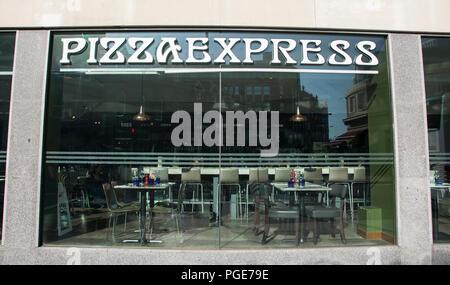 Pizza Express On Great Portland Street London W1 UK