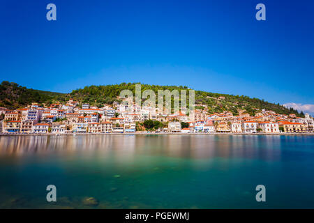 Gytheio is a town and a former municipality in Laconia, Peloponnese, Greece and the largest and most important town in Mani - Stock Photo