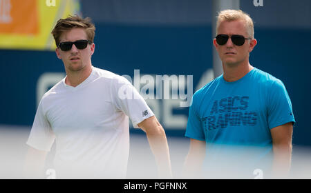 New York, USA. 25th Aug, 2018. Team Sakkari during practice ahead of the 2018 US Open Grand Slam tennis tournament. New York, USA. August 25th 2018. 25th Aug, 2018. Credit: AFP7/ZUMA Wire/Alamy Live News Credit: ZUMA Press, Inc./Alamy Live News - Stock Photo