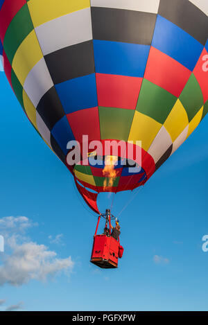 Strathaven, Scotland, 25th Aug, 2018. The international Balloon Festival is a display of hot air ballooning held in the John Hastie Park in Strathaven, Scotland. Credit George Robertson/Alamy Live News - Stock Photo