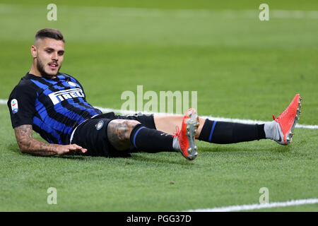 Milano, Italy. 26th August, 2018.  Mauro Icardi of FC Internazionale disappointed  during the Serie A match between FC Internazionale and Torino Fc. - Stock Photo