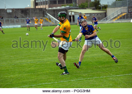 County Kerry, Ireland. 26th Aug, 2018. Lixnaw have won their first  county hurling title since 2014 after a sensational final which ended with the Lixnaw goalkeeper Martin Stackpoole saving a penalty in the last seconds of the game. Credit: Clearpix/Alamy Live News - Stock Photo