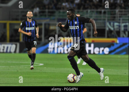 Milan, Italy. 26th Aug, 2018. Kwadwo Asamoah (FC Internazionale) during the Serie A TIM football match between FC Internazionale Milano and Torino FC at Stadio Giuseppe Meazza on 26 August, 2018 in Milan, Italy. Credit: FABIO PETROSINO/Alamy Live News - Stock Photo
