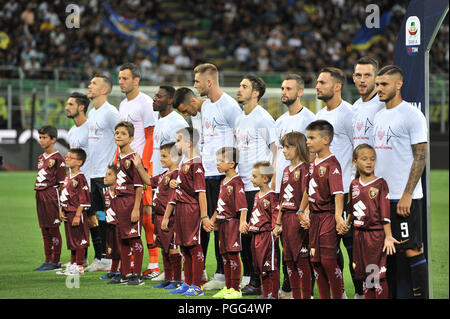 Milan, Italy. 26th Aug, 2018. Team FC Internazionale during the Serie A TIM football match between FC Internazionale Milano and Torino FC at Stadio Giuseppe Meazza on 26 August, 2018 in Milan, Italy. Credit: FABIO PETROSINO/Alamy Live News - Stock Photo
