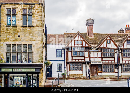 East Grinstead (Sussex, England): Clarendon House, Tudor Style - Stock Photo