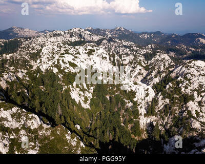 The Northern Velebit National Park (Croatian: Nacionalni park Sjeverni Velebit) is famous for its variety of karst landscape forms. - Stock Photo