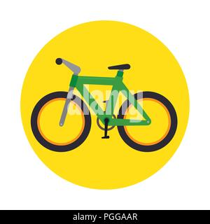 bicycle transport icon graphic - Stock Photo