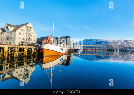 Beautiful town of Tromso in Northern Norway