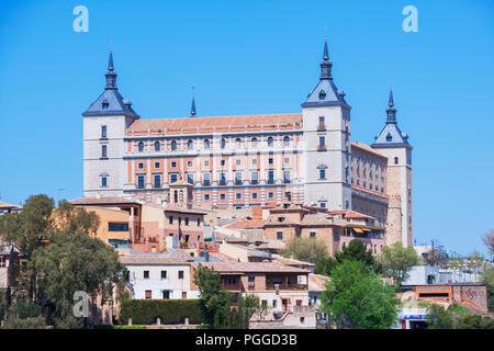 The Alcazar, Toledo, UNESCO World Heritage Site, Castilla La Mancha, Spain - Stock Photo