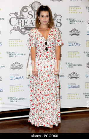 Arrivals at the 'Sea Creatures' exhibition at the Royal Horticultural Halls in London.  Featuring: Imogen Thomas Where: London, United Kingdom When: 26 Jul 2018 Credit: WENN.com - Stock Photo