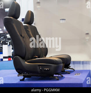 Black Front Car seat parts  before assembly - Stock Photo