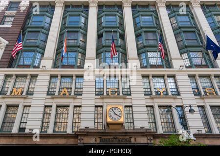 Macy's department store in New York City - Stock Photo