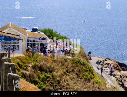 The most southerly point and Polpeor Cove Lizard cornwall England UK The Most Southerly Cafe - Stock Photo