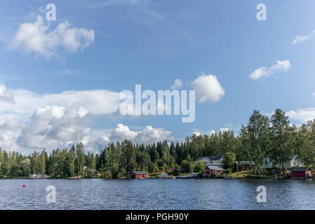 View of the typical Finnish village of Oravi  in summer - 1 - Stock Photo