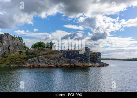 The massive defense walls of the Suomenlinna fortress in Finland - 3 - Stock Photo