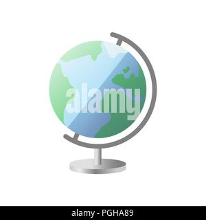 Icon of globe with stand. Globe icon - Stock Photo