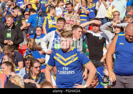 Saturday 25 August 2018 – The 117th staging of the Ladbrokes Challenge Cup Rugby League Final at Wembley Stadium between Warrington Wolves (The Wire)  - Stock Photo