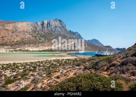 Balos Bay, Gramvousa peninsula, western Crete - Stock Photo