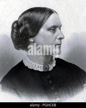 Susan B. Anthony (1820 – 1906) American social reformer and women's rights activist - Stock Photo